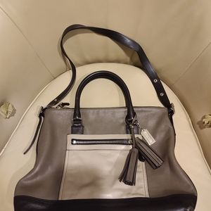 Coach legacy color block Leather Rory Satchel Tote
